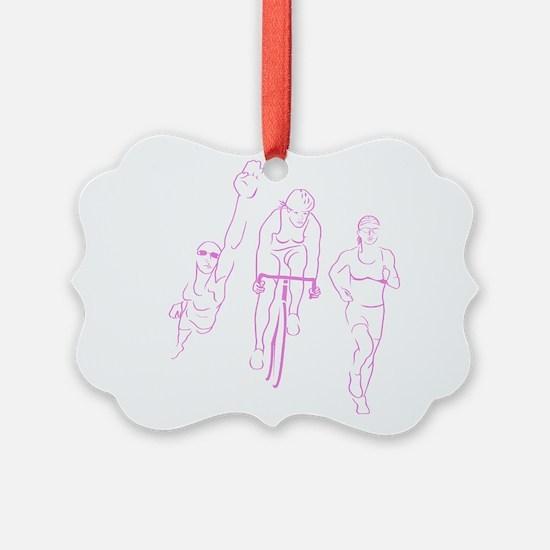 Triathlon Woman Ornament