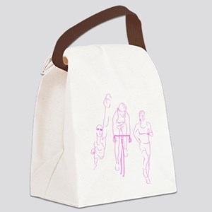 Triathlon Woman Canvas Lunch Bag