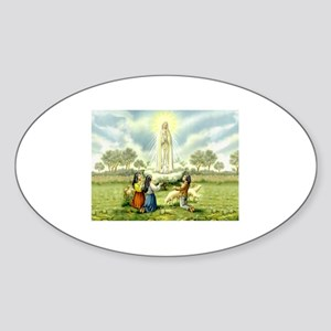 Our Lady of Fatima Oval Sticker