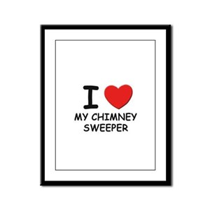 I love chimney sweepers Framed Panel Print