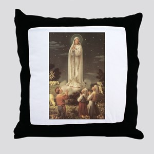 Our Lady of Fatima Throw Pillow
