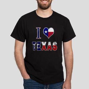 I (Heart) Love Texas Flag Dark T-Shirt