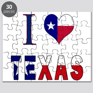I (Heart) Love Texas Flag Puzzle