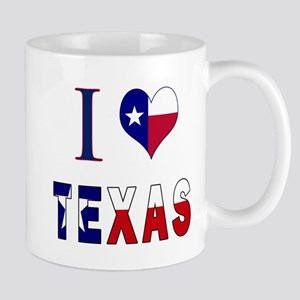 I (Heart) Love Texas Flag Mug