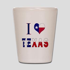 I (Heart) Love Texas Flag Shot Glass