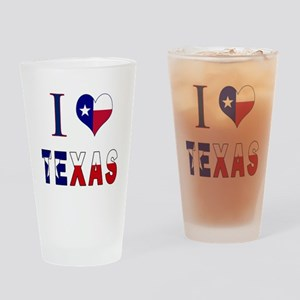 I (Heart) Love Texas Flag Drinking Glass