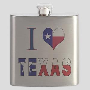 I (Heart) Love Texas Flag Flask