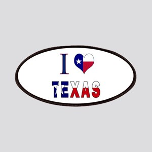 I (Heart) Love Texas Flag Patches