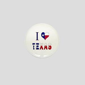 I (Heart) Love Texas Flag Mini Button
