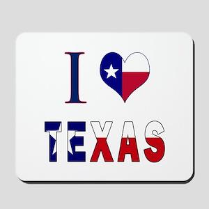 I (Heart) Love Texas Flag Mousepad