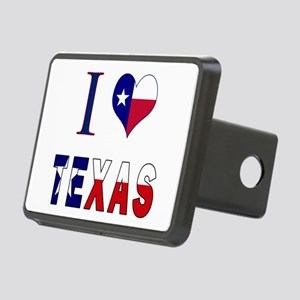 I (Heart) Love Texas Flag Rectangular Hitch Cover