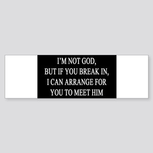 IM NOT GOD copy Bumper Sticker