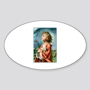 The Little Shepherd Oval Sticker