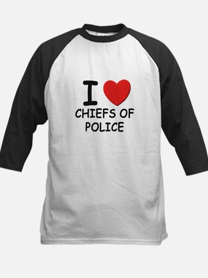 I love chiefs of police Kids Baseball Jersey