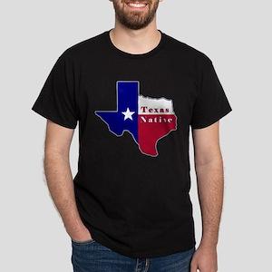 Texas Native Flag Map Dark T-Shirt
