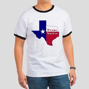 Texas Native Flag Map Ringer T