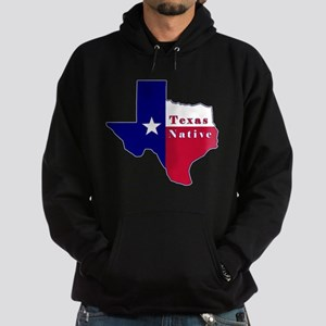 Texas Native Flag Map Hoodie (dark)