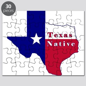 Texas Native Flag Map Puzzle
