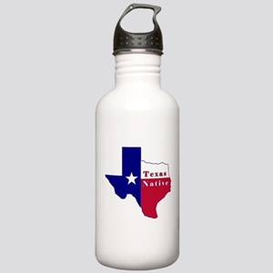Texas Native Flag Map Stainless Water Bottle 1.0L