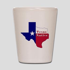 Texas Native Flag Map Shot Glass