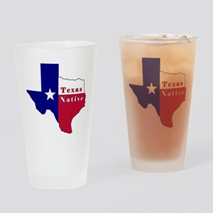 Texas Native Flag Map Drinking Glass