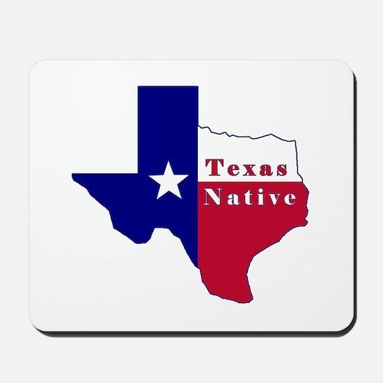 Texas Native Flag Map Mousepad