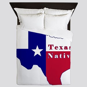 Texas Native Flag Map Queen Duvet