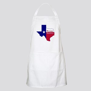 Texas Native Flag Map Apron