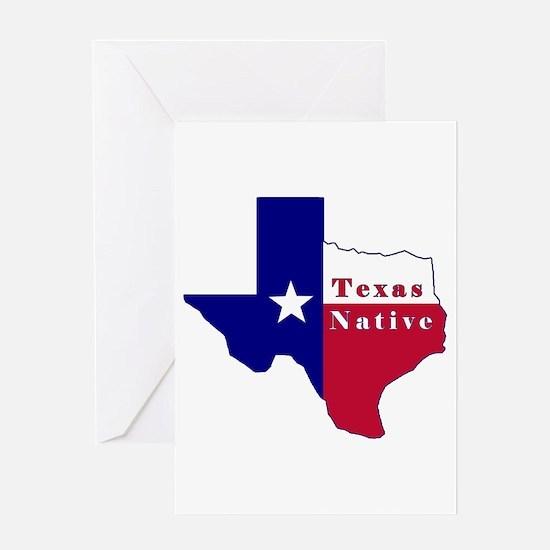 Texas Native Flag Map Greeting Card
