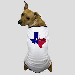 Texas Native Flag Map Dog T-Shirt