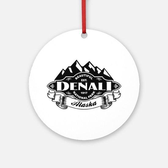 Denali Mountain Emblem Ornament (Round)