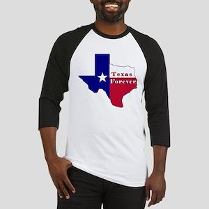 Texas Forever Flag Map Baseball Jersey