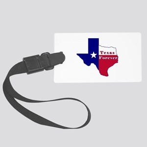 Texas Forever Flag Map Large Luggage Tag