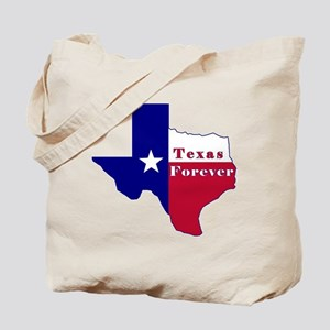 Texas Forever Flag Map Tote Bag