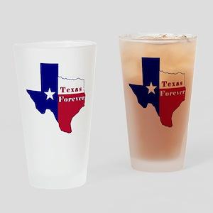 Texas Forever Flag Map Drinking Glass