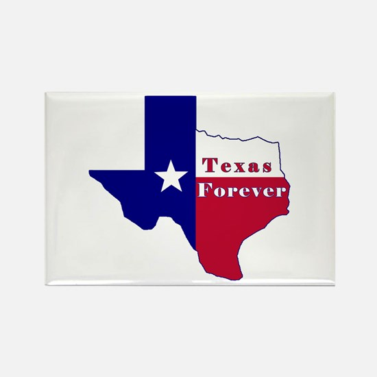 Texas Forever Flag Map Rectangle Magnet