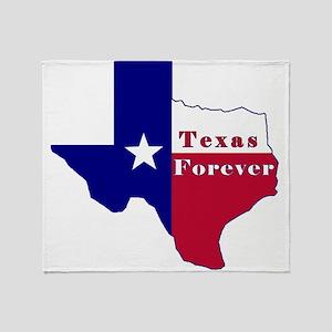 Texas Forever Flag Map Throw Blanket
