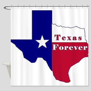 Texas Forever Flag Map Shower Curtain