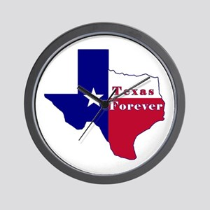 Texas Forever Flag Map Wall Clock