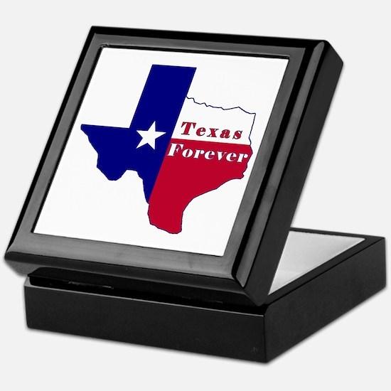 Texas Forever Flag Map Keepsake Box