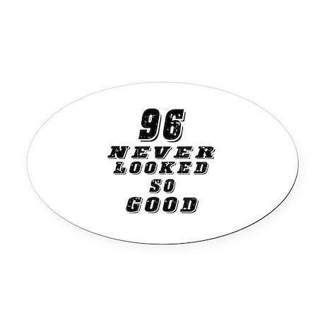 96 Birthday Designs Oval Car Magnet