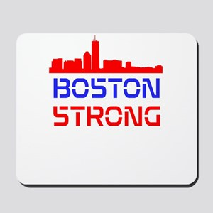 Boston Strong Skyline Red White and Blue Mousepad