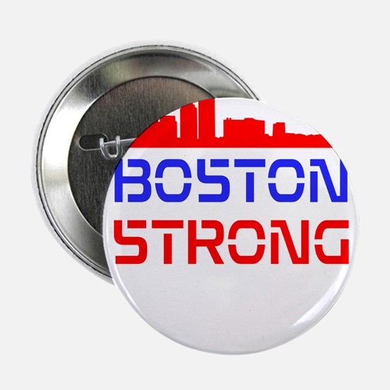 """Boston Strong Skyline Red White and Blue 2.25"""" But"""