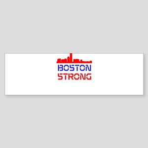 Boston Strong Skyline Red White and Blue Bumper St
