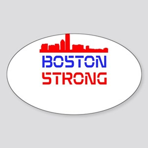 Boston Strong Skyline Red White and Blue Sticker