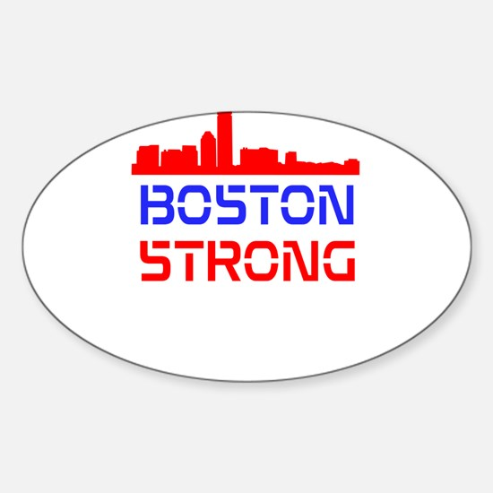 Boston Strong Skyline Red White and Blue Decal