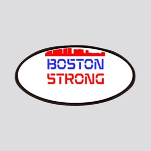 Boston Strong Skyline Red White and Blue Patches