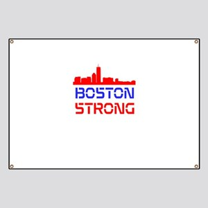 Boston Strong Skyline Red White and Blue Banner