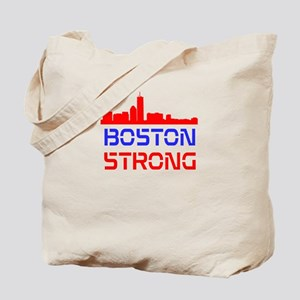 Boston Strong Skyline Red White and Blue Tote Bag