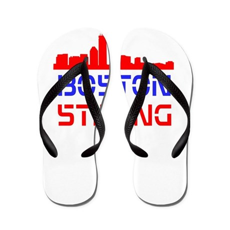 Boston Strong Skyline Red White and Blue Flip Flop